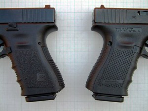 Picture of the grips of Gen3 vs Gen4