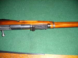 Rear site post and hex receiver of a 91/30 Mosin Nagant