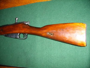 Wood stock of a mosin nagant